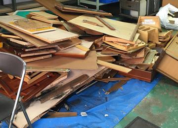 建築現場の廃材処分